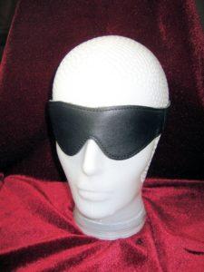 Onyx-Leather Blindfold - Black